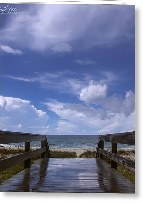 Panama City Beach Greeting Cards - Stairway to paradise Greeting Card by Don Thaxton