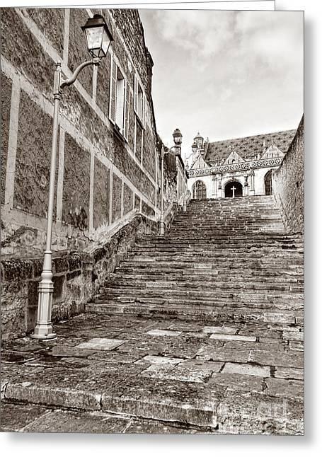 Old Stone Greeting Cards - Stairway to Salvation  Greeting Card by Olivier Le Queinec