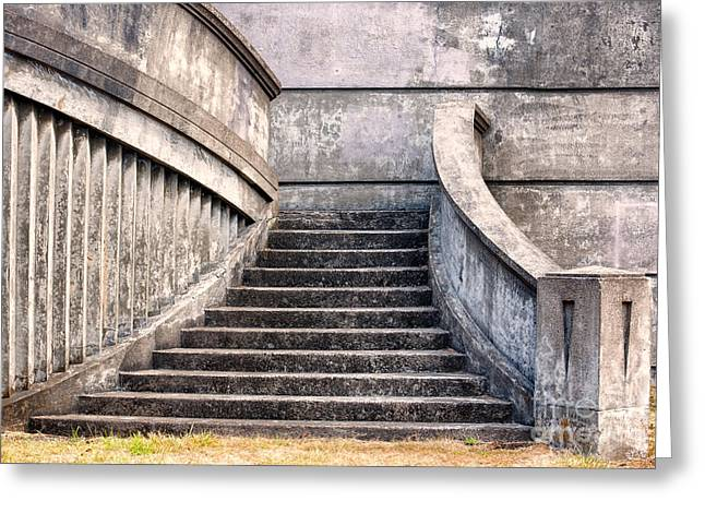 Stairway To The Unknown Greeting Card by Sandra Bronstein