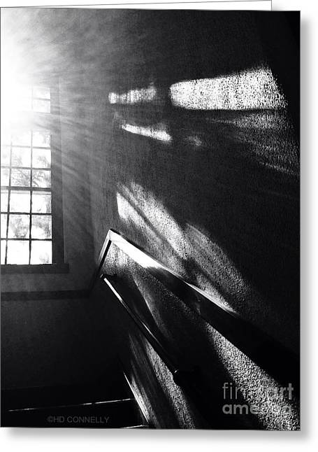 Glare Greeting Cards - Stairwell #1 Greeting Card by HD Connelly