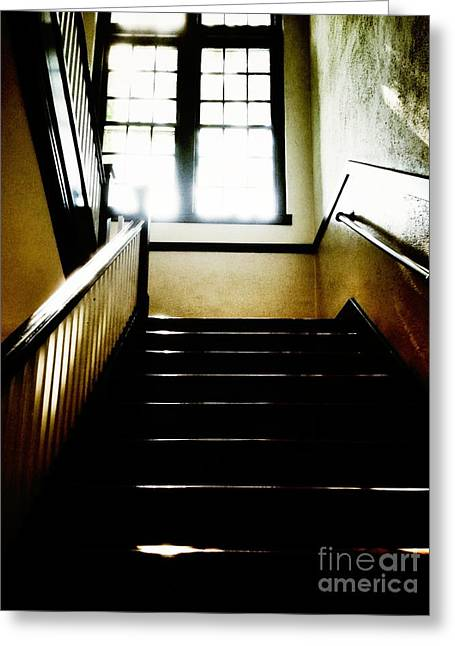 Glare Greeting Cards - Stairwell #2 Greeting Card by HD Connelly
