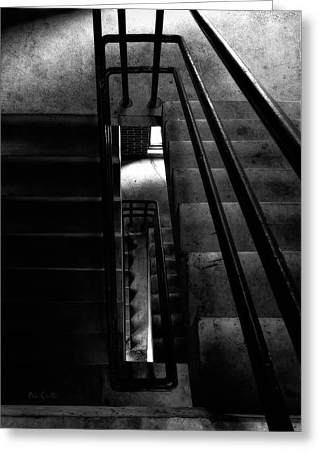 Vertigo Greeting Cards - Stairwell Greeting Card by Bob Orsillo