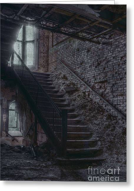 Dirt Pile Greeting Cards - Stairwell Greeting Card by Margie Hurwich