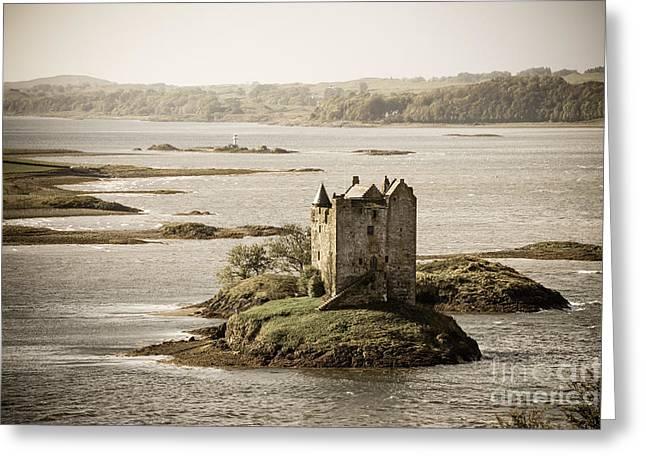 Argyll Greeting Cards - Stalker Castle vintage Greeting Card by Jane Rix