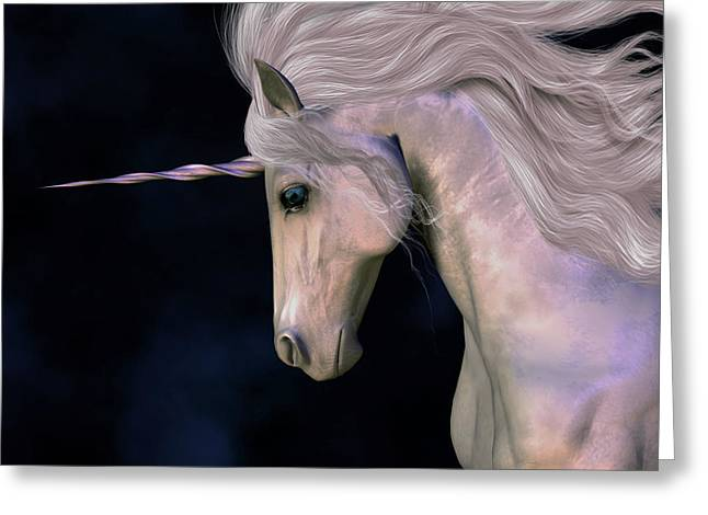 Fabled Greeting Cards - Stallion Greeting Card by Corey Ford