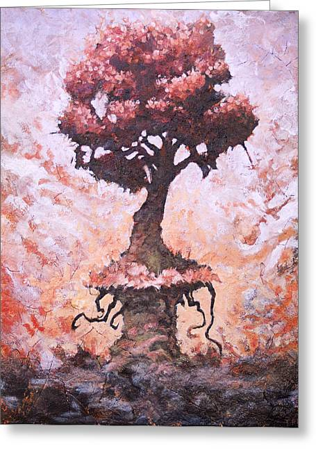 Fantasy Tree Greeting Cards - Stalwart Greeting Card by Ethan Harris
