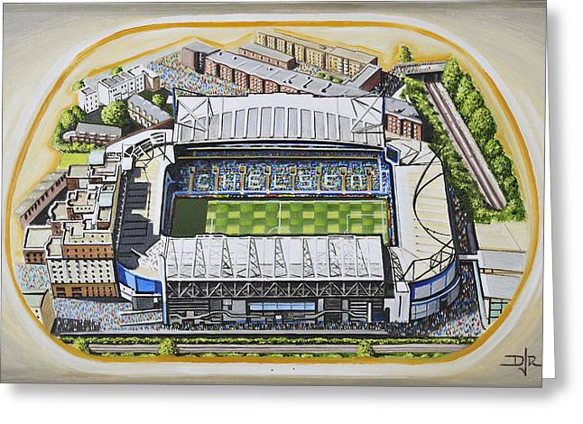 Soccer Greeting Cards Greeting Cards - Stamford Bridge - Chelsea Greeting Card by D J Rogers