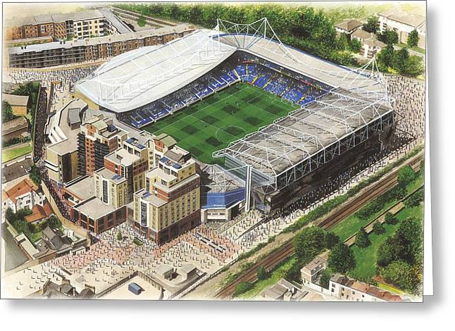Soccer Greeting Cards Greeting Cards - Stamford Bridge - Chelsea Greeting Card by Kevin Fletcher