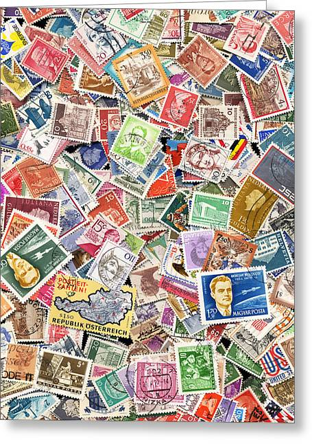 Language Use Greeting Cards - Stamps Greeting Card by Steve Ball