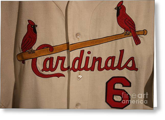 Stan Musial Greeting Cards - Stan Greeting Card by David Rucker