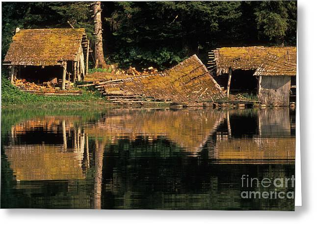 Alaskan Architecture Greeting Cards - Stan Price Cabin, Alaska Greeting Card by Ron Sanford