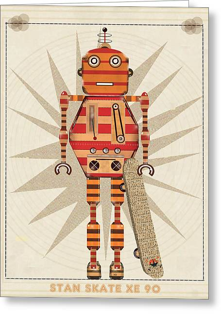 Skateboarding Greeting Cards - Stan Skate Xe 90 Greeting Card by Bri Buckley