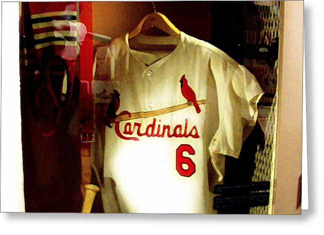 Stan The Man's Locker Stan Musial Greeting Card by Iconic Images Art Gallery David Pucciarelli