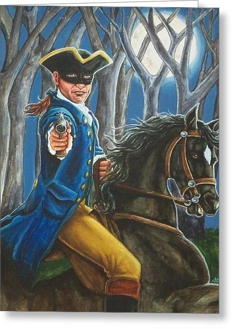 Stand And Deliver Greeting Card by Beth Clark-McDonal