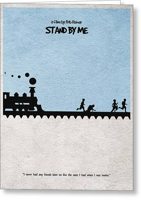 Vintage Movie Poster Greeting Cards - Stand by Me Greeting Card by Ayse Deniz