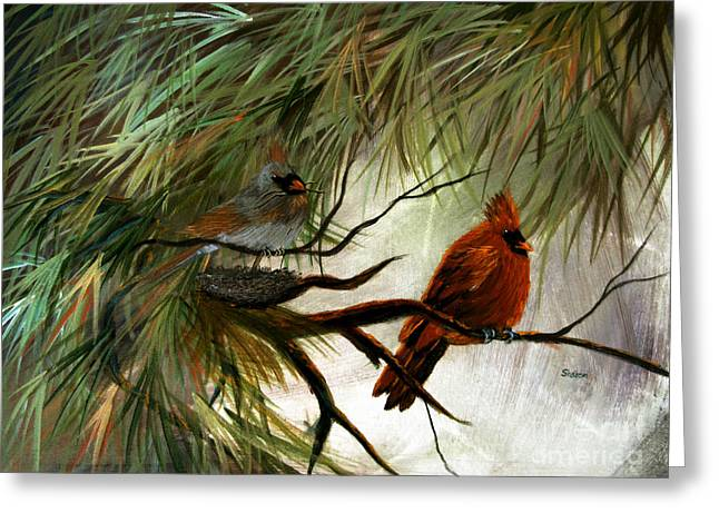 Stand By Me Greeting Card by Sharon Burger