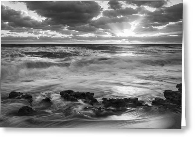 Ocean Black And White Prints Greeting Cards - Stand So Much Closer Greeting Card by Jon Glaser