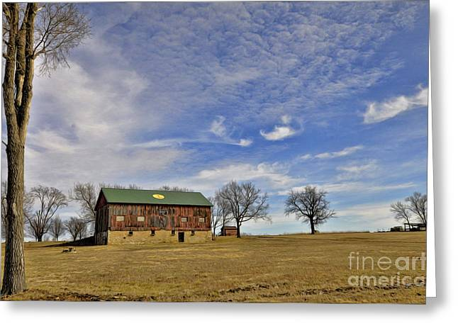 Farm Stand Greeting Cards - Stand Tall - Barn Greeting Card by Liane Wright