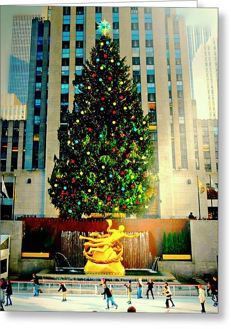 Winter In The City Greeting Cards - Stand Tall Greeting Card by Diana Angstadt