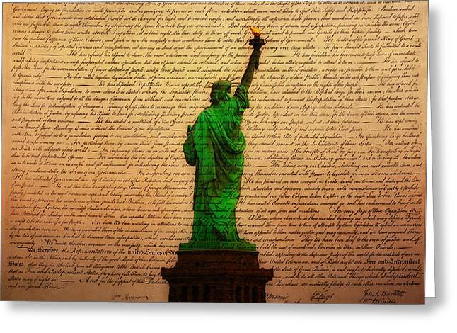 Stand Up for Freedom Greeting Card by Bill Cannon