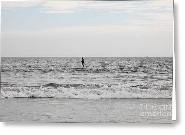 Stand-up Greeting Cards - Stand Up Paddle Surfing At Coronado Beach In Coronado California 5D24304 Greeting Card by Wingsdomain Art and Photography