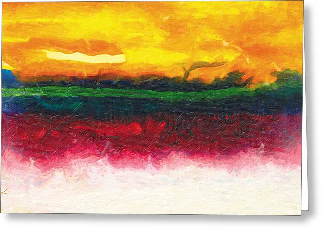 Standing Before The Energy Of The Sun Greeting Card by The Art of Marsha Charlebois