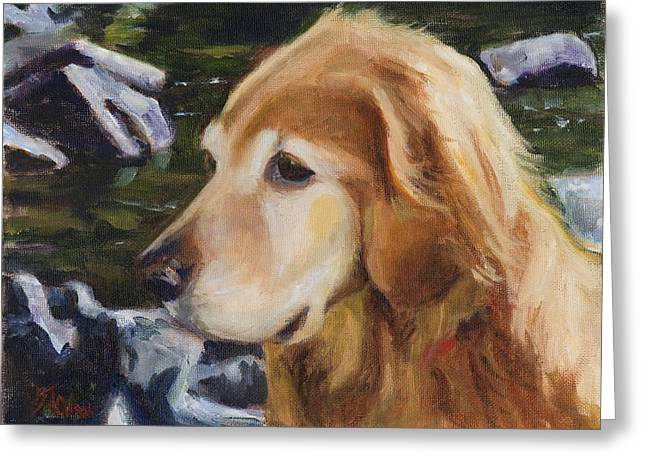 Loveland Artist Greeting Cards - Standing by the River Greeting Card by Billie Colson