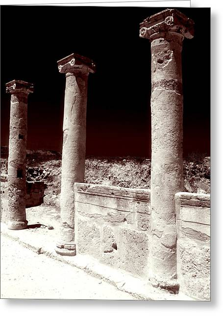 Ancient Ruins Greeting Cards - Standing Columns Greeting Card by John Rizzuto