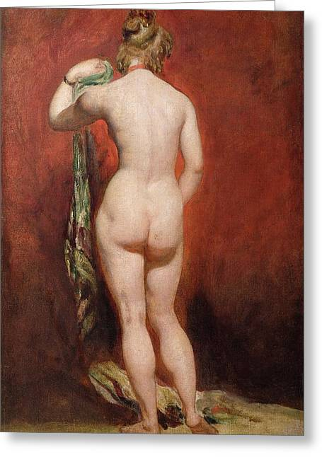 Buttocks Greeting Cards - Standing Female Nude Greeting Card by William Etty