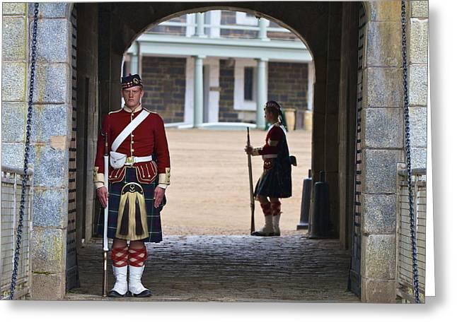 Brigade Greeting Cards - Standing Guard Greeting Card by John Babis