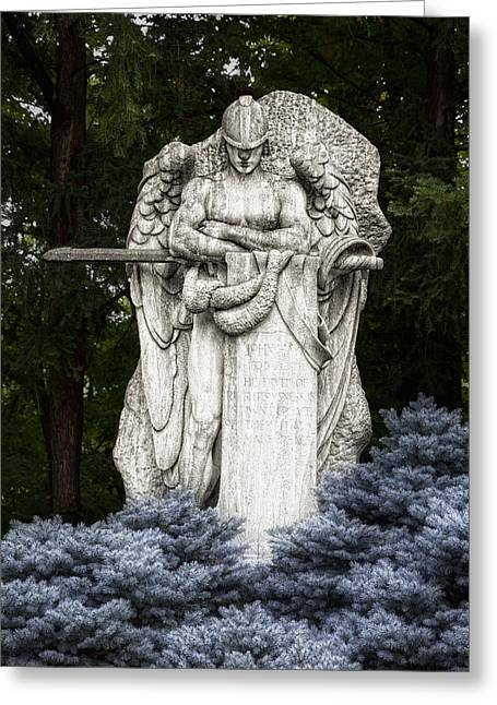 Grave Greeting Cards - Standing Guard Greeting Card by Tom Mc Nemar