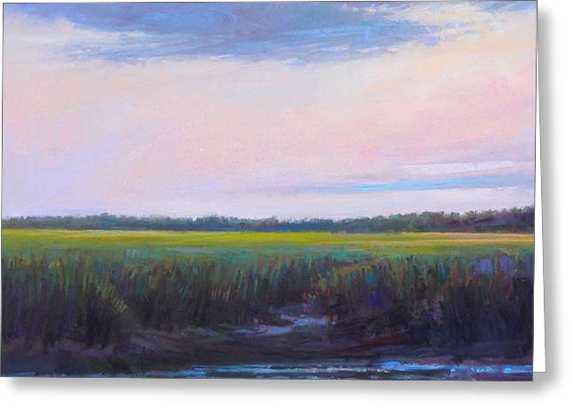 Cape Cod Pastels Greeting Cards - Standing Here Greeting Card by Ed Chesnovitch