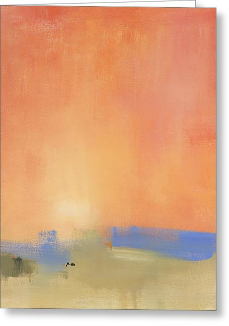 Sunset Abstract Greeting Cards - Standing Next to Your Fire Greeting Card by Jacquie Gouveia