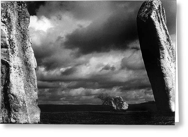 Mark Preston Greeting Cards - Standing Stones Avebury Greeting Card by Mark Preston
