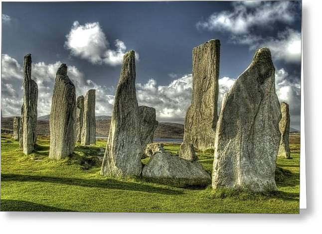 Monolith Greeting Cards - Standing Stones of Callanish Greeting Card by Robert Murray