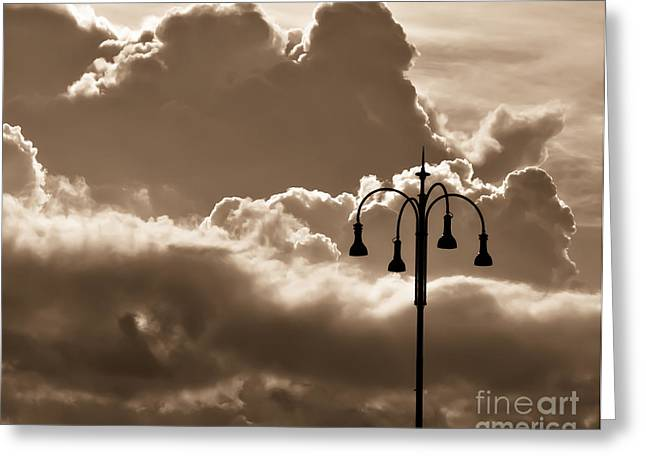Charly Greeting Cards - Standing Strong in Sepia Greeting Card by Prints of Italy