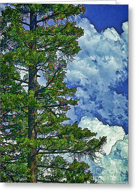 Roiling Greeting Cards - Standing Tall-2 Greeting Card by Nancy Marie Ricketts