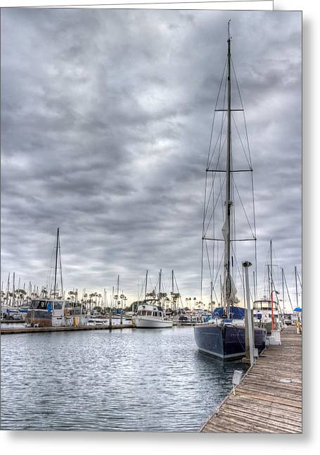 Docked Boats Greeting Cards - Standing Tall Greeting Card by Heidi Smith