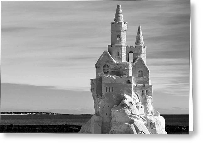 Sand Castles Greeting Cards - Standing Tall Greeting Card by Michelle Wiarda
