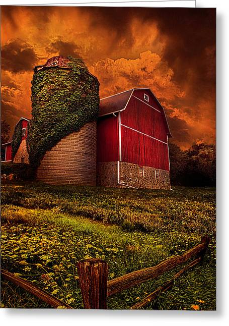 Silo Greeting Cards - Standing Tall Greeting Card by Phil Koch