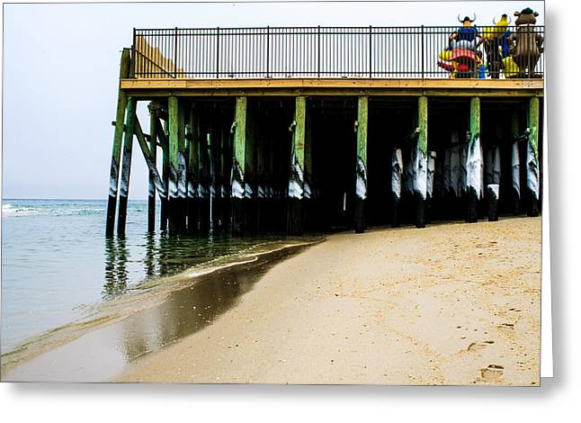 Casino Pier Greeting Cards - Standing WATCH Greeting Card by Bill Terlecki