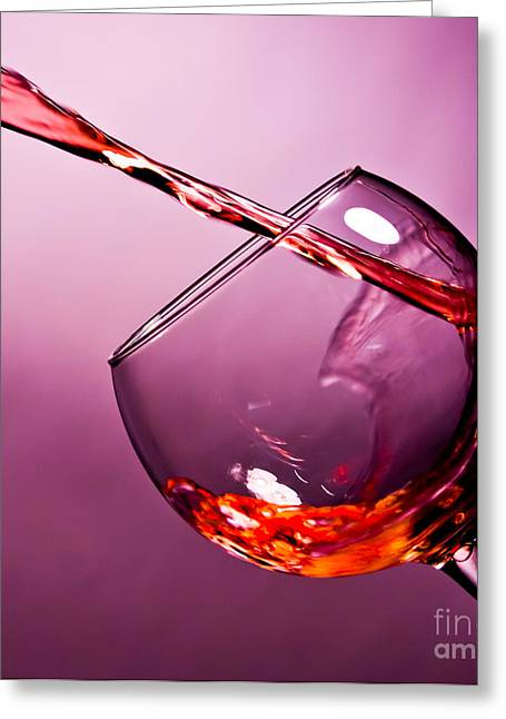 Red Wine Greeting Cards - Standing water Greeting Card by Matthew Trudeau