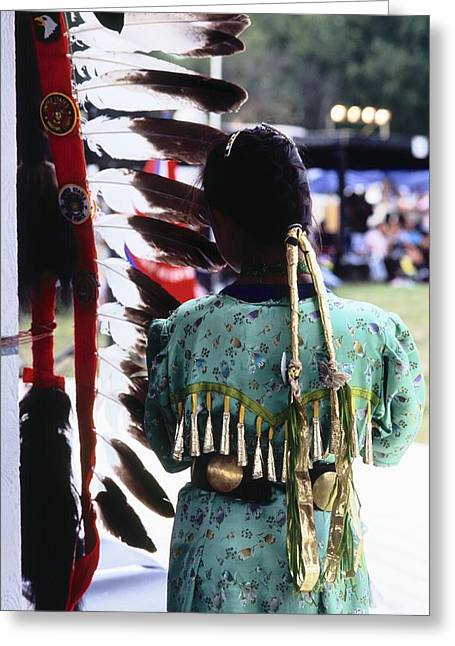 Oglala Greeting Cards - Stands Greeting Card by Chris  Brewington Photography LLC