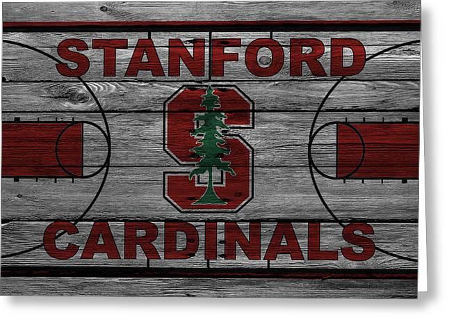 Dunk Greeting Cards - Stanford Cardinals Greeting Card by Joe Hamilton