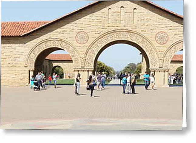 Basketballs Greeting Cards - Stanford University Main Quad Palo Alto California Panorama DSC681 Greeting Card by Wingsdomain Art and Photography