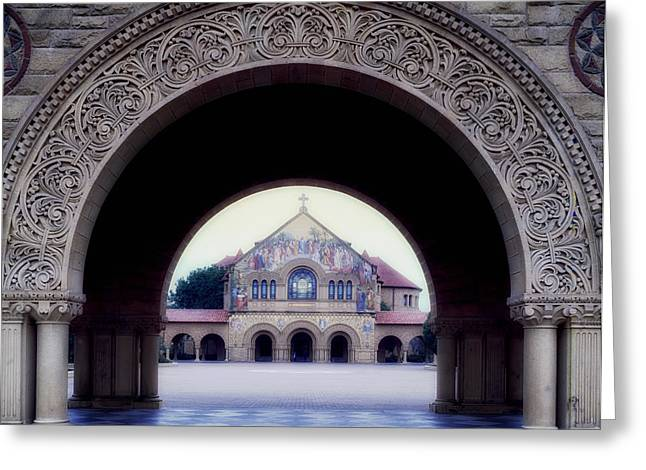 University School Greeting Cards - Stanford University Memorial Church Greeting Card by Mountain Dreams