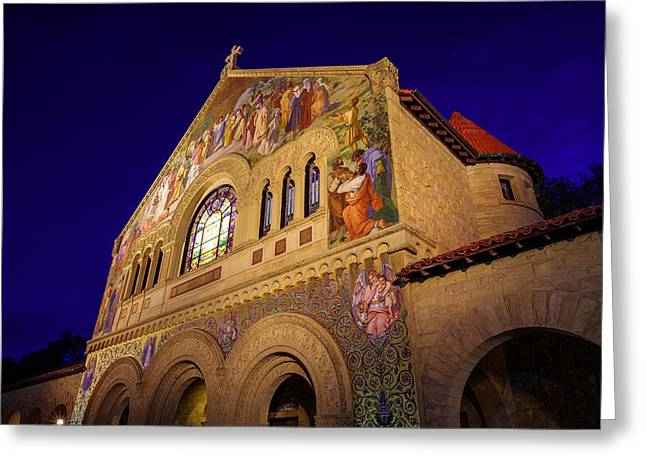Alto Greeting Cards - Stanford University Memorial Church Greeting Card by Scott McGuire