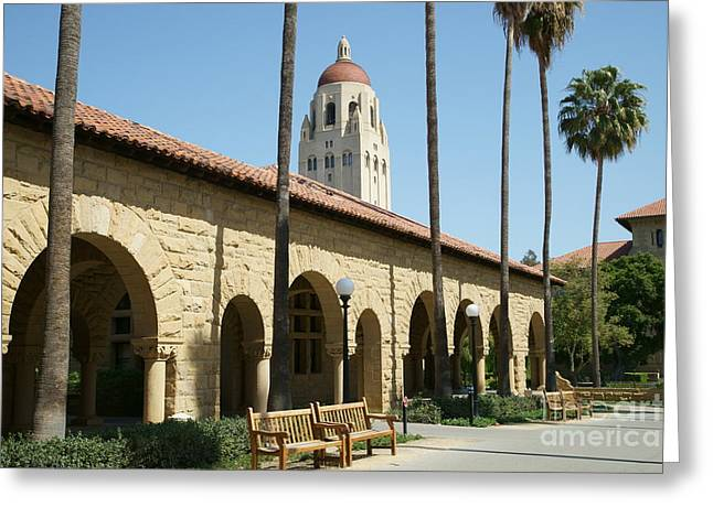 Leland Greeting Cards - Stanford University Palo Alto California Hoover Tower DSC643 Greeting Card by Wingsdomain Art and Photography