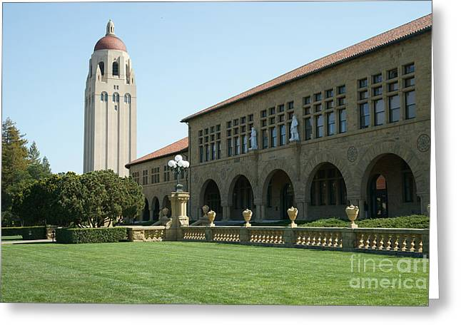 Silicon Valley Greeting Cards - Stanford University Palo Alto California Hoover Tower DSC685 Greeting Card by Wingsdomain Art and Photography