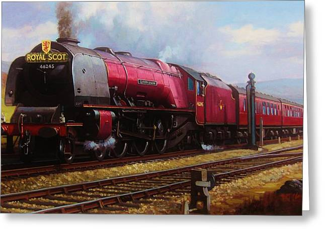 Steam Train Greeting Cards - Stanier pacific on Shap. Greeting Card by Mike  Jeffries